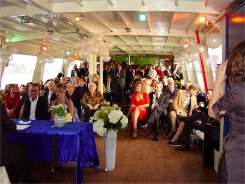 Boot 2 partyschip huren Huwelijk amsterdam